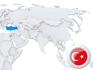 Tauchen in Türkei - Karte von Türkai