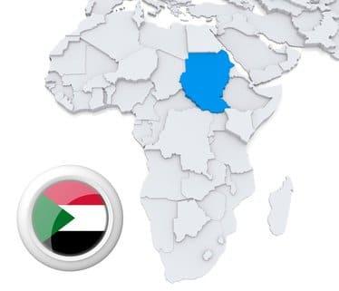 Sudan Afrika Karte