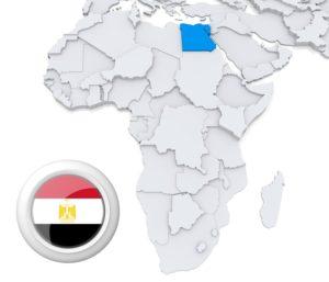 Ägypten auf Afrika Karte