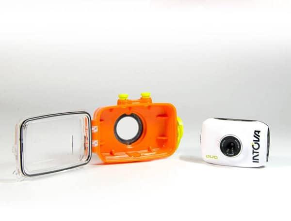 Intova Action-Cam Duo mit Unterwassergehäuse