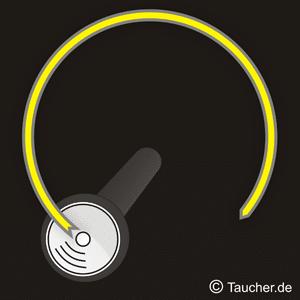 Taucherlampe Signal OK