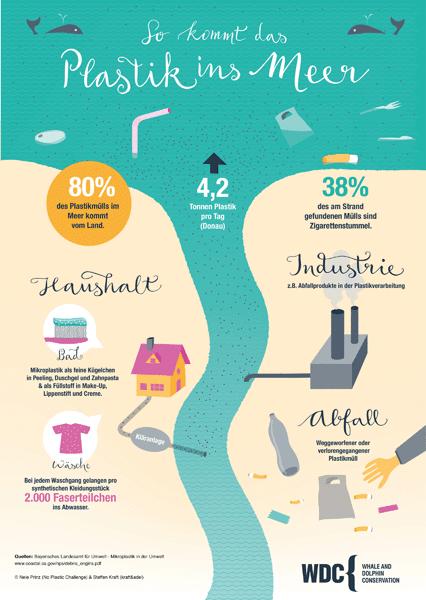 So kommt das Plastik ins Meer