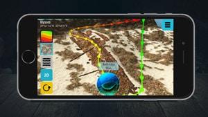 3D-Karte Ulysses auf IPhone von Ocean Maps 2