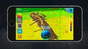 3D-Karte Ulysses auf IPhone von Ocean Maps 3
