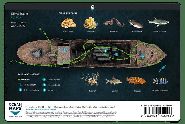 Divecard Flora and Fauna Ocean Maps