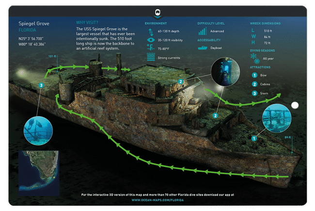 Divecard Wrack Ocean Maps