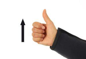 Tauchen Handzeichen Aufstieg