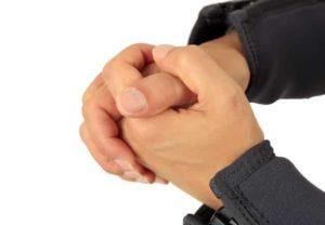 Tauchen Handzeichen - Hand halten