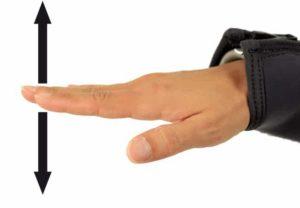 Tauchen Handzeichen - mach langsam